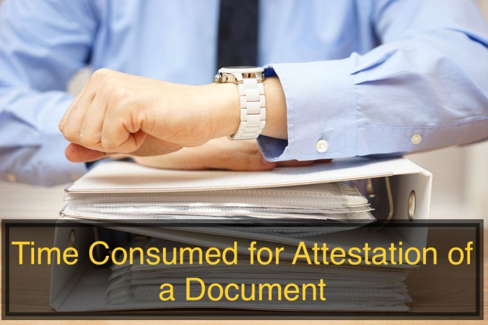 Time Consumed for Attestation of a Document