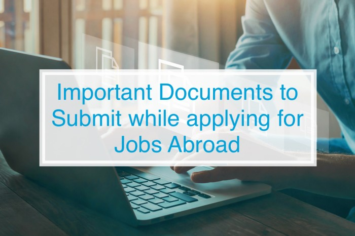 Important Documents to Submit While Applying for Jobs Abroad